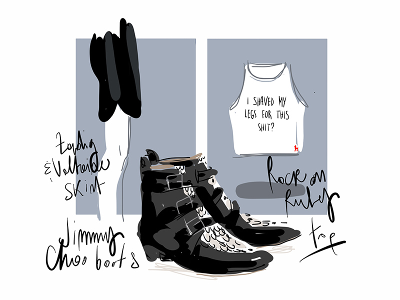 Styling - Open Toe Illustration by Silvana Mariani