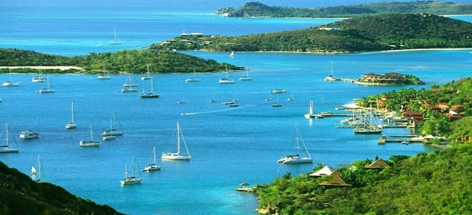 British Virgin Islands dall'alto