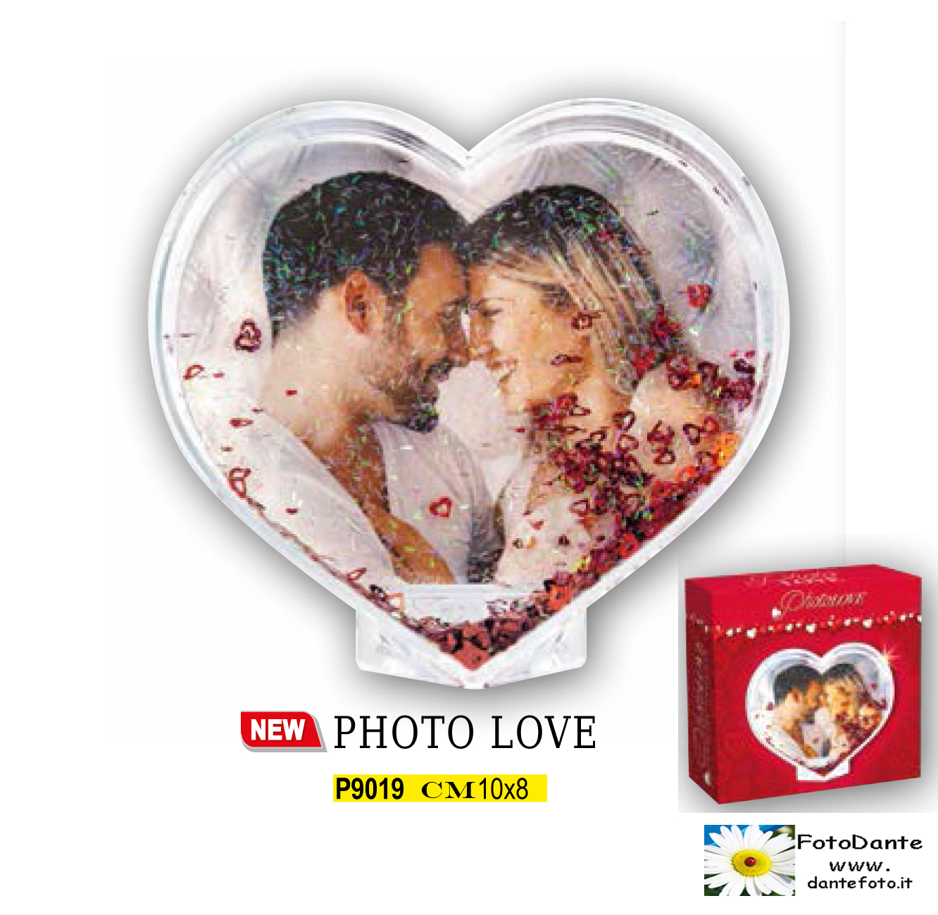 PHOTO GLOBE HEART/CUORE   NUOVO