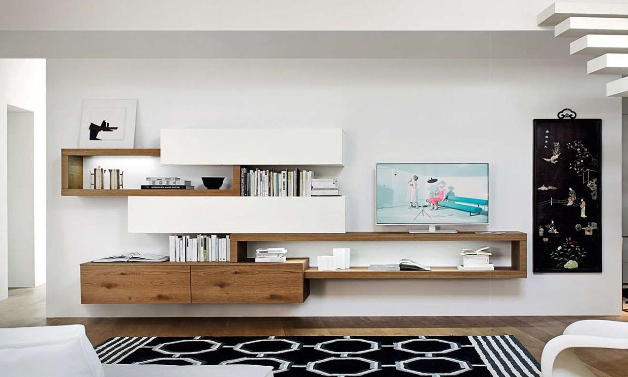 Mobili e pareti soggiorno su misura in legno naturale - Mobili soggiorno su misura ...