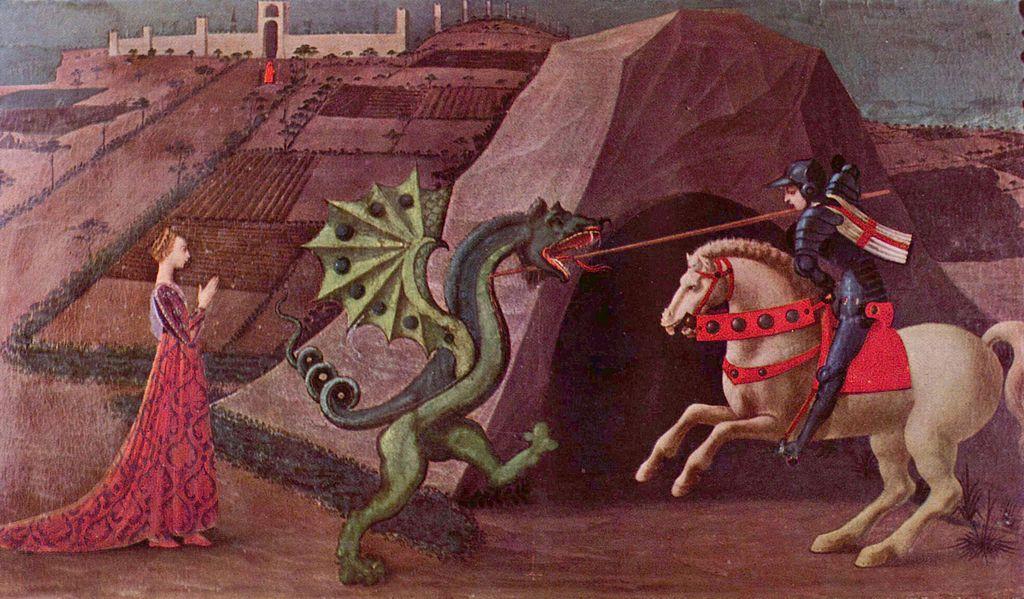 Paolo Uccello San Giorgio e il drago museo Jacquemart Andrjpg