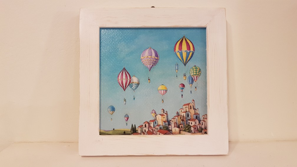 Arrivano le mongolfiere con cornice, hot air balloons are coming with frame