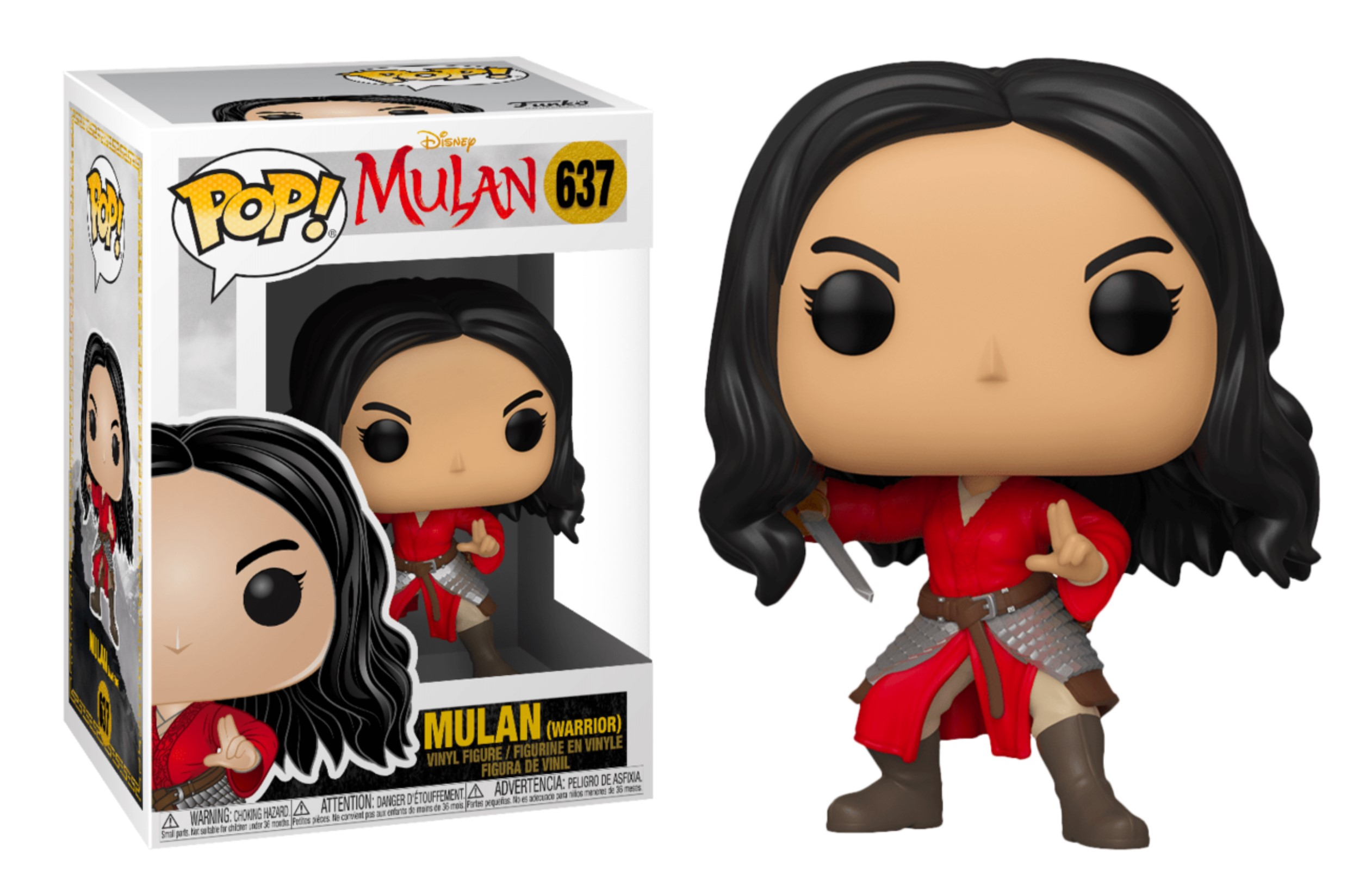 FUNKO POP MULAN WARRIOR #637 MULAN DISNEY LIU YIFEI