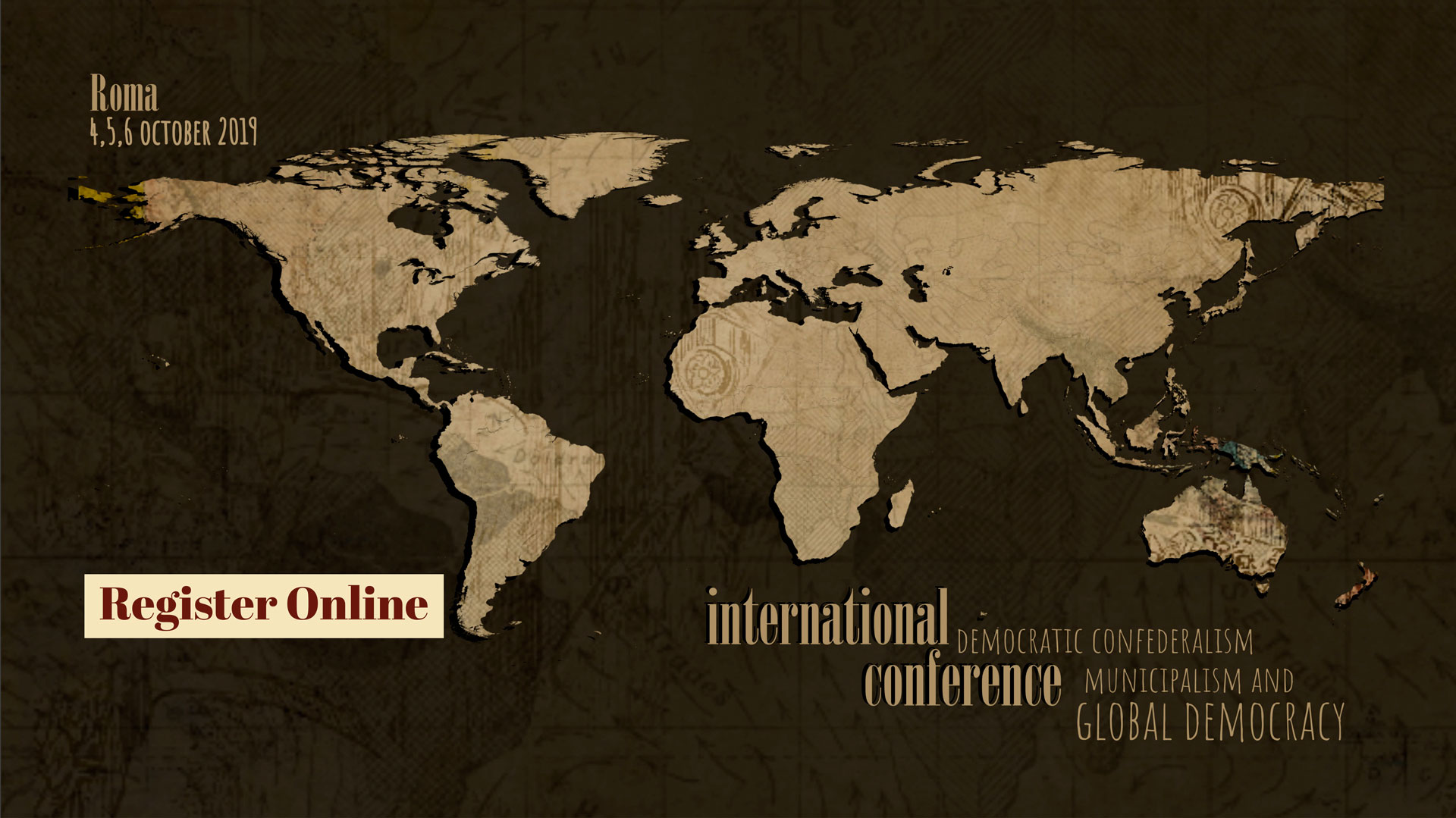 world map international conference registration banner