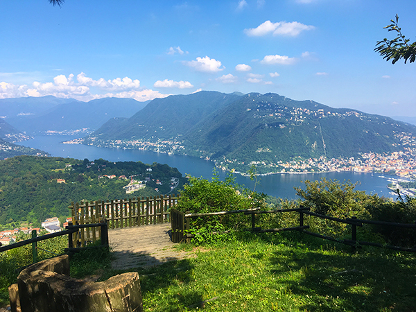 Mountain Bike Lake Como Spina Verde Pin Umbrela path trail itinerary