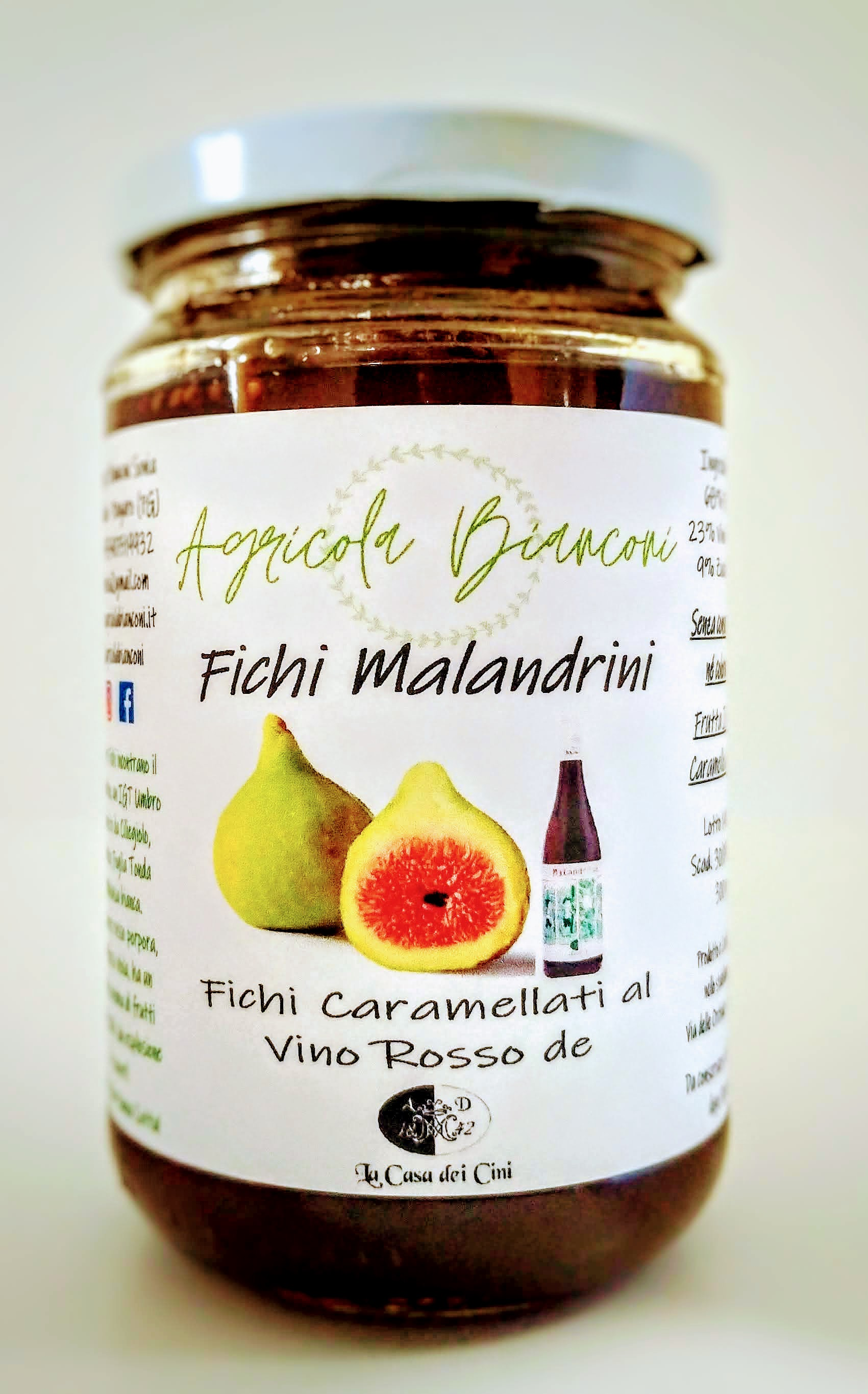 FICHI CARAMELLATI AL VINO ROSSO 300 GR - CARAMELIZED FIGS IN RED WINE 300 GR