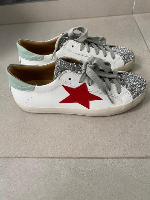 SNEAKERS CROWN WHITE GLITTER 2021