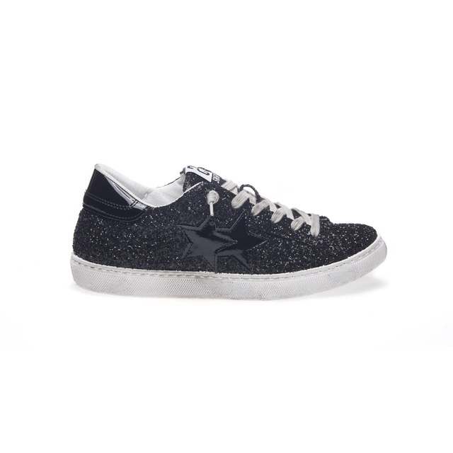 -50% SNEAKER LOW GLITTER NERO 2 STAR