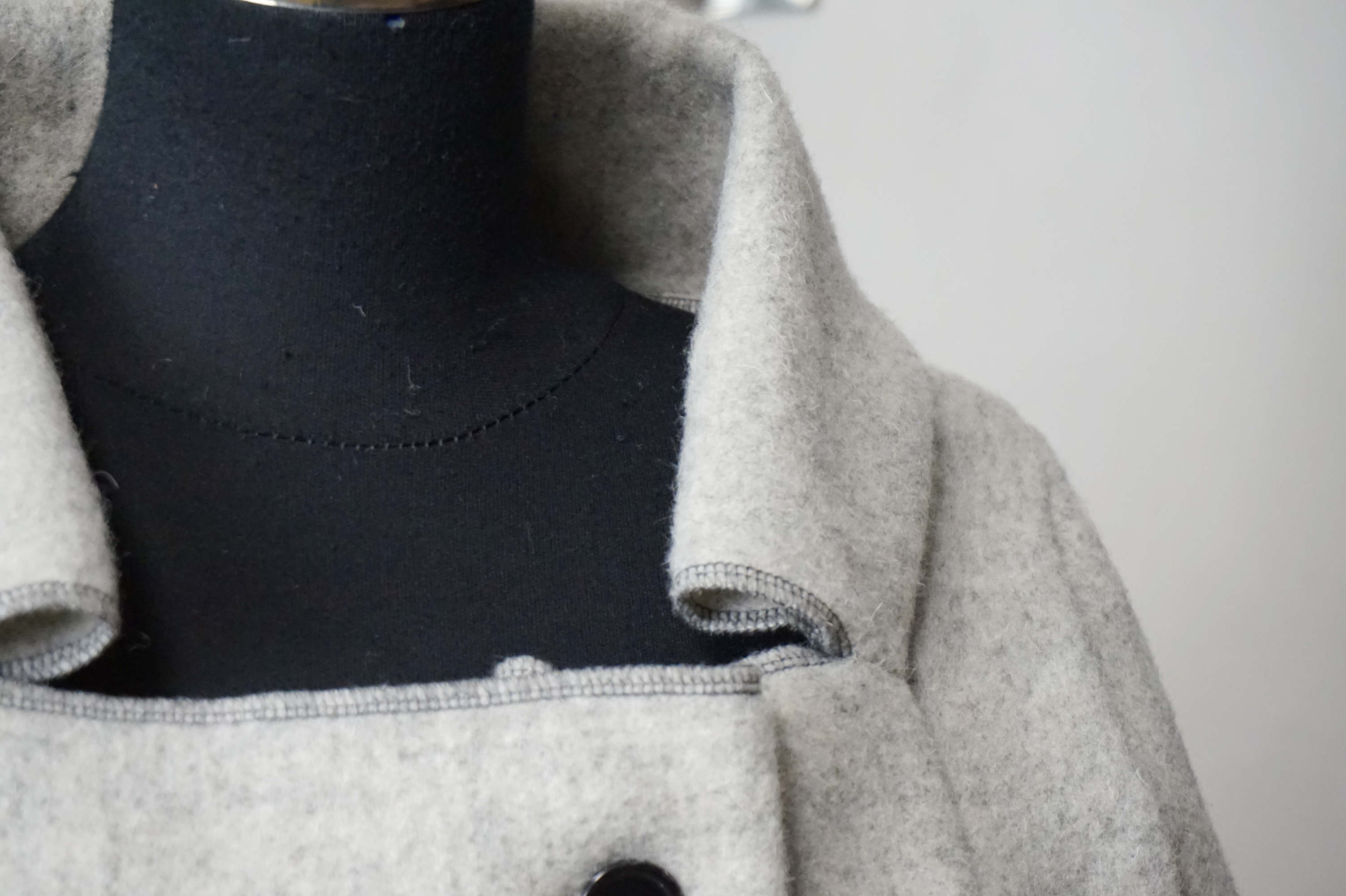 jacket in organic wool