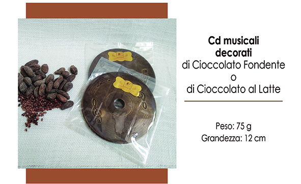 CD musicale  in cioccolato al latte e miele 50 g