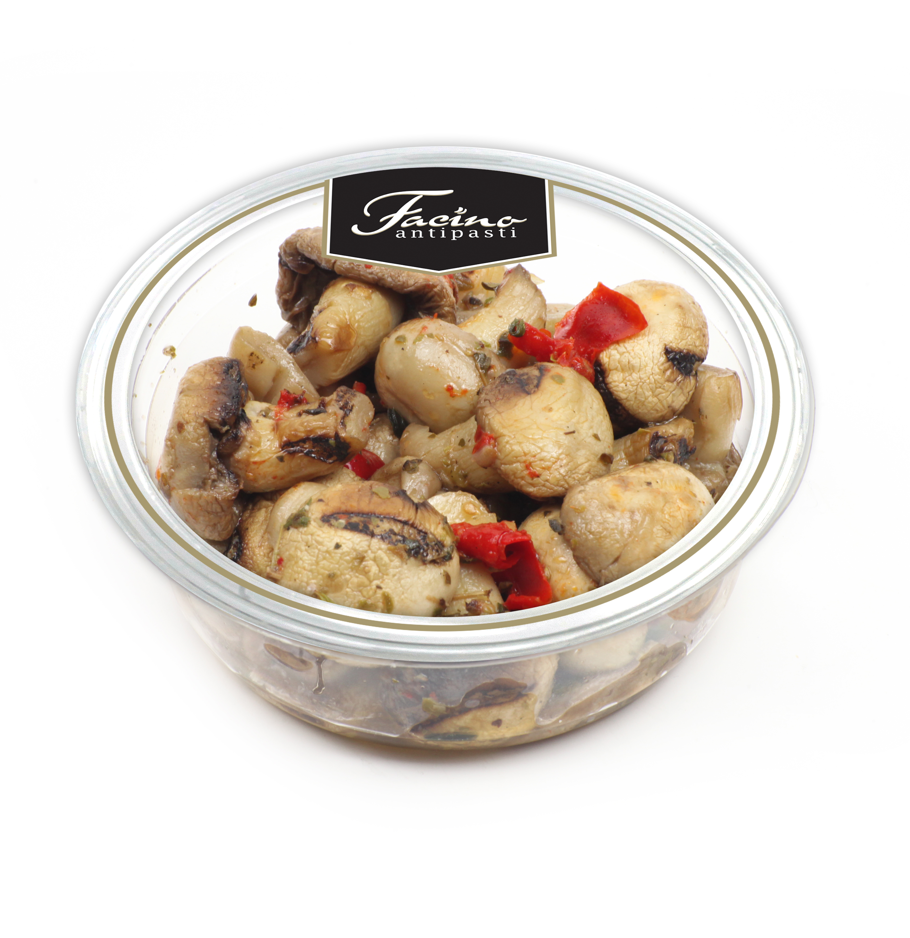 "Marinated: Grilled Champignon Mushrooms 200gr ( 7.05 oz ) ""Imported from Italy"""