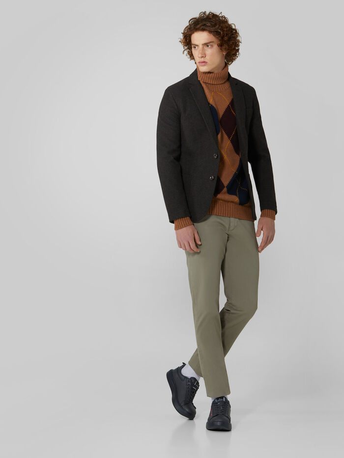 Blazer Trussardi  slim fit in jersey fantasia