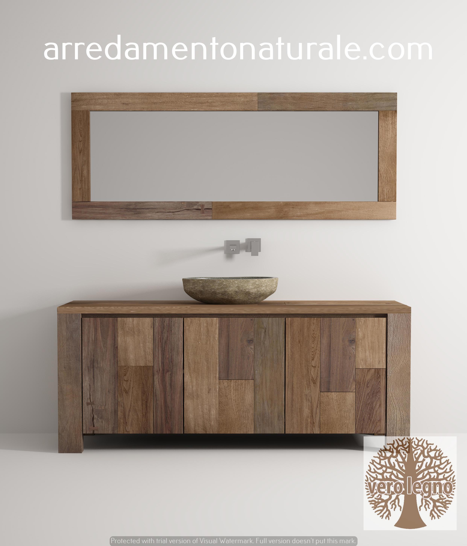 mobili da bagno in legno massello su misura con essenze pregiate ...