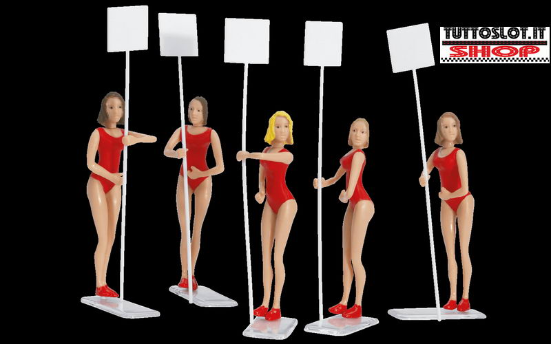 Personaggi grid girl - Grid girls figures