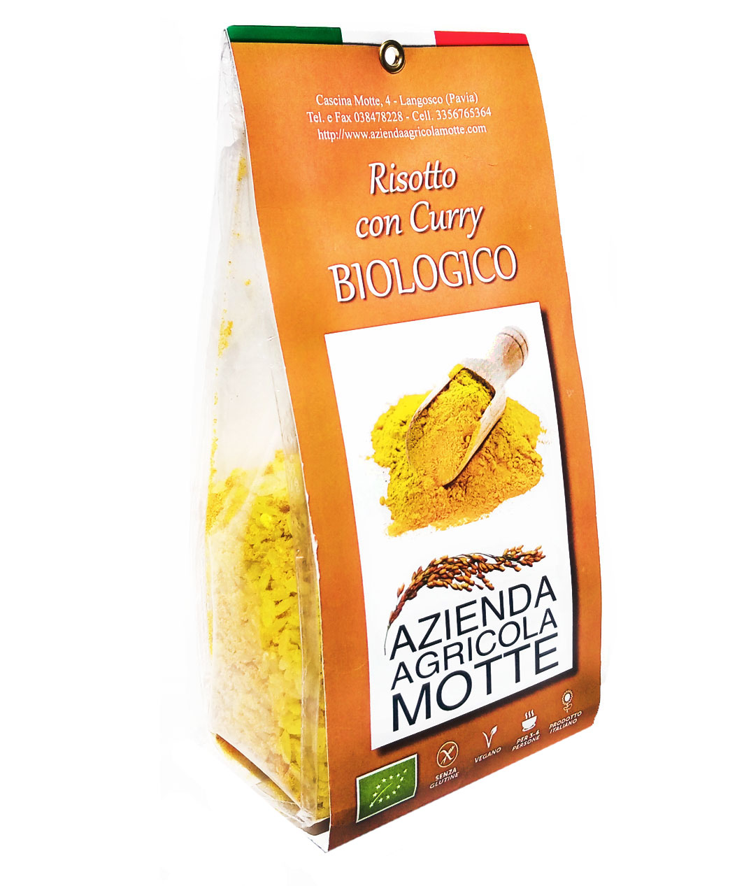 Risotto con Curry Bio da 250 Grammi