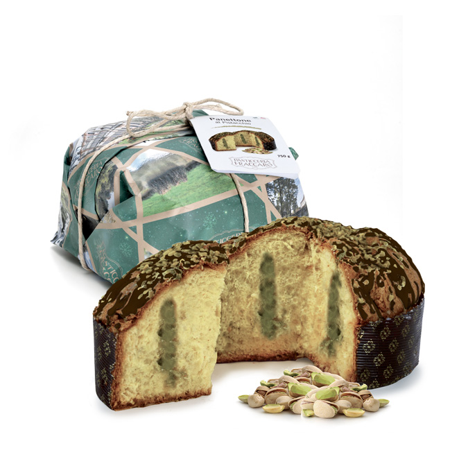 Panettone with Pistacchio by Fraccaro 750gr (26.45oz) Imported from Italy