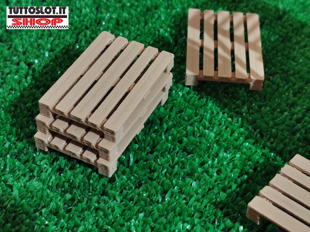 Pallet - pedana legno in scala 1:32 conf. 6pz- Wood color Pallets 1:32 scale 6pcs