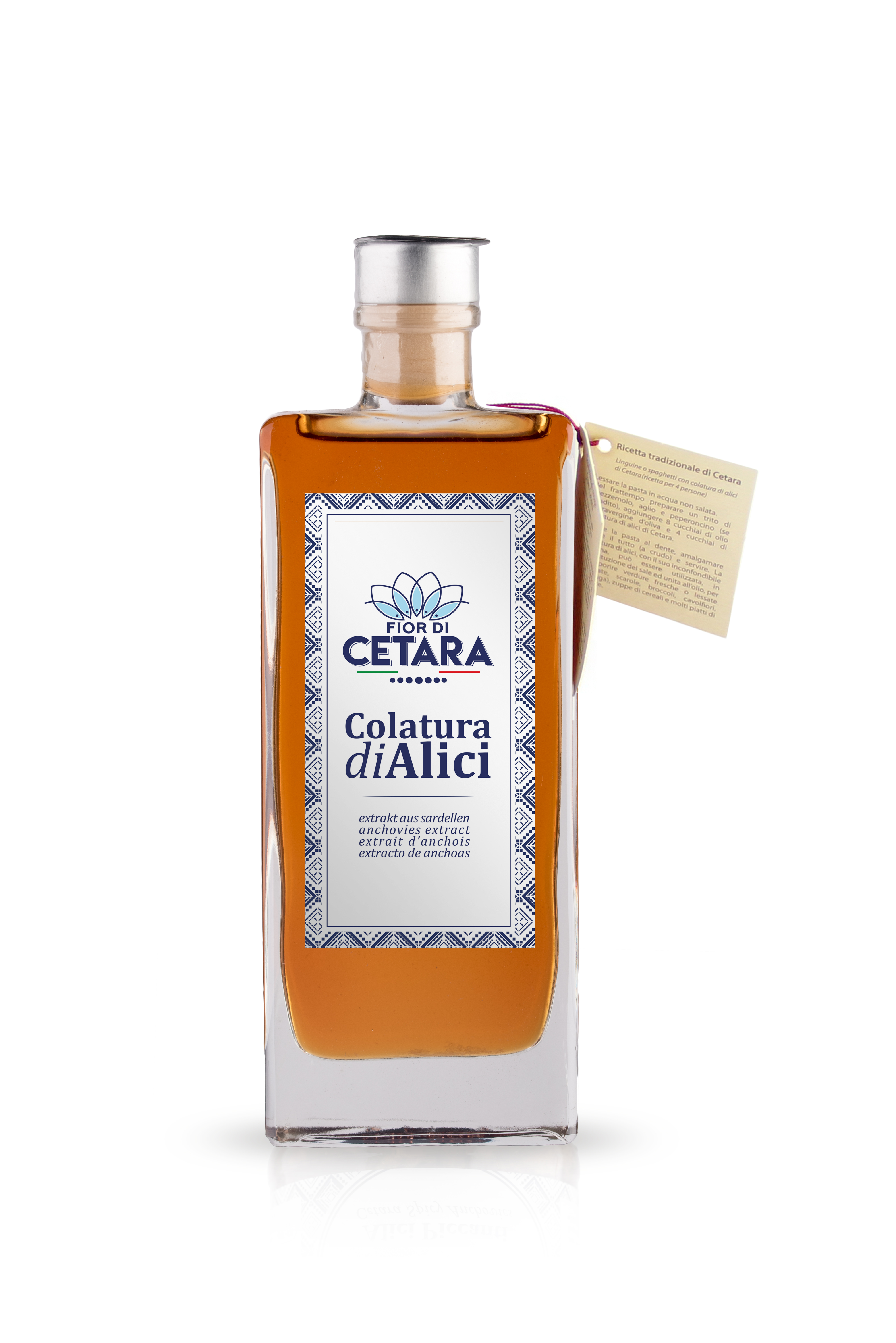 "Colatura di Alici (Anchovies extract) di Cetara 100ml - 3.38 fluid ounce  ""Imported from Italy"""
