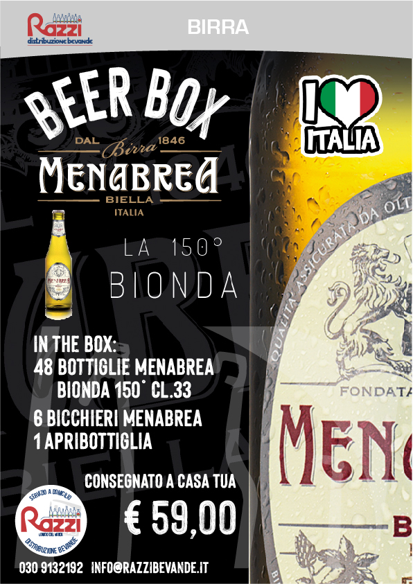 Beer Box Menabrea 150° Bionda