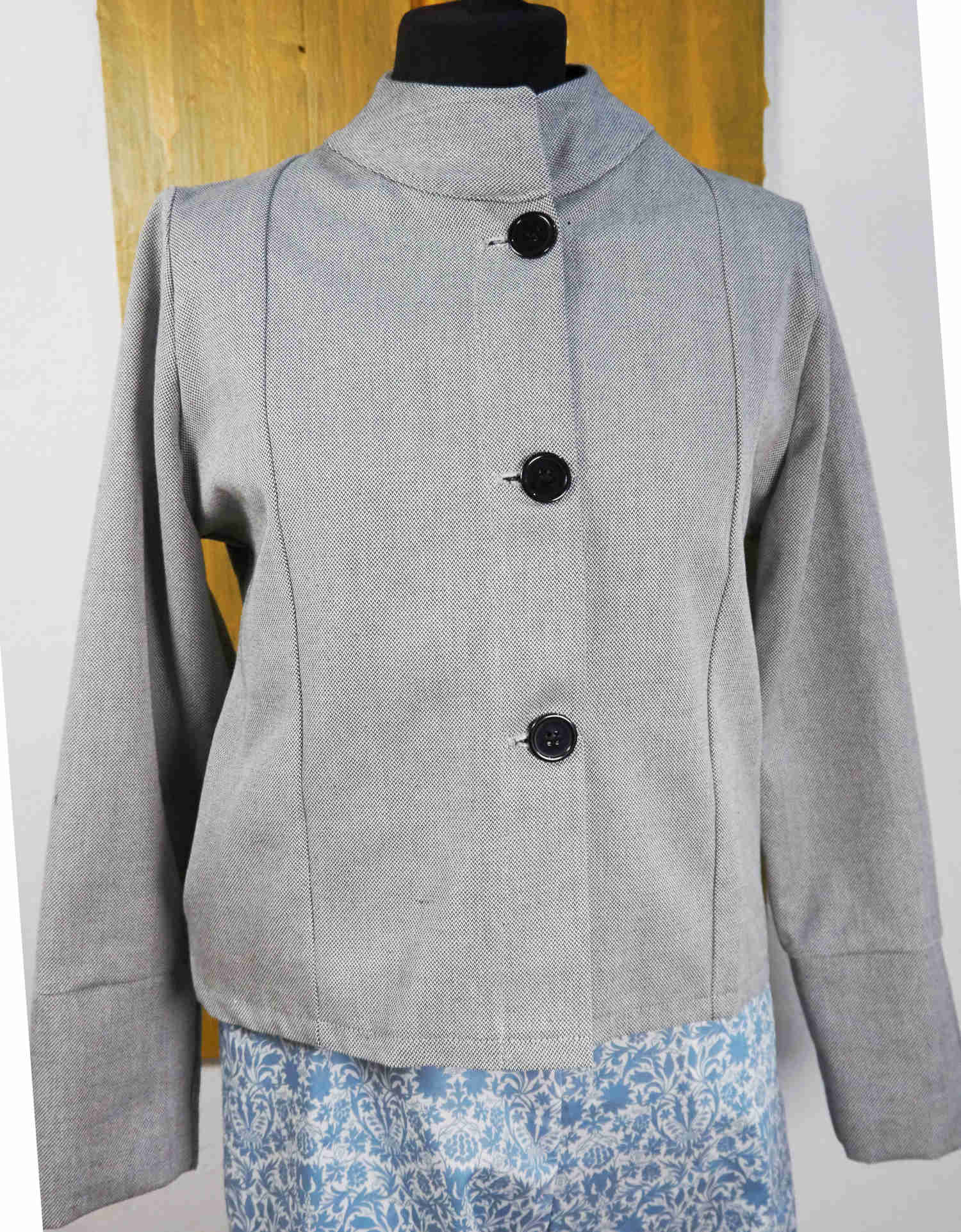 jacket in organic cotton