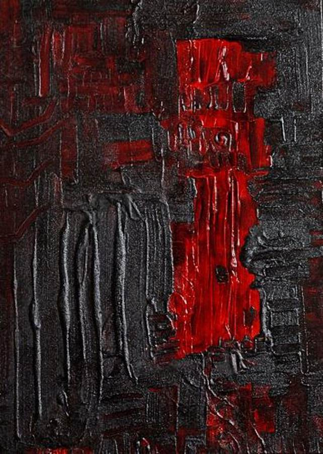 """Magma"" - Mixed media on canvas - 2008 - cms 50 x 70 - quotation € 1000"