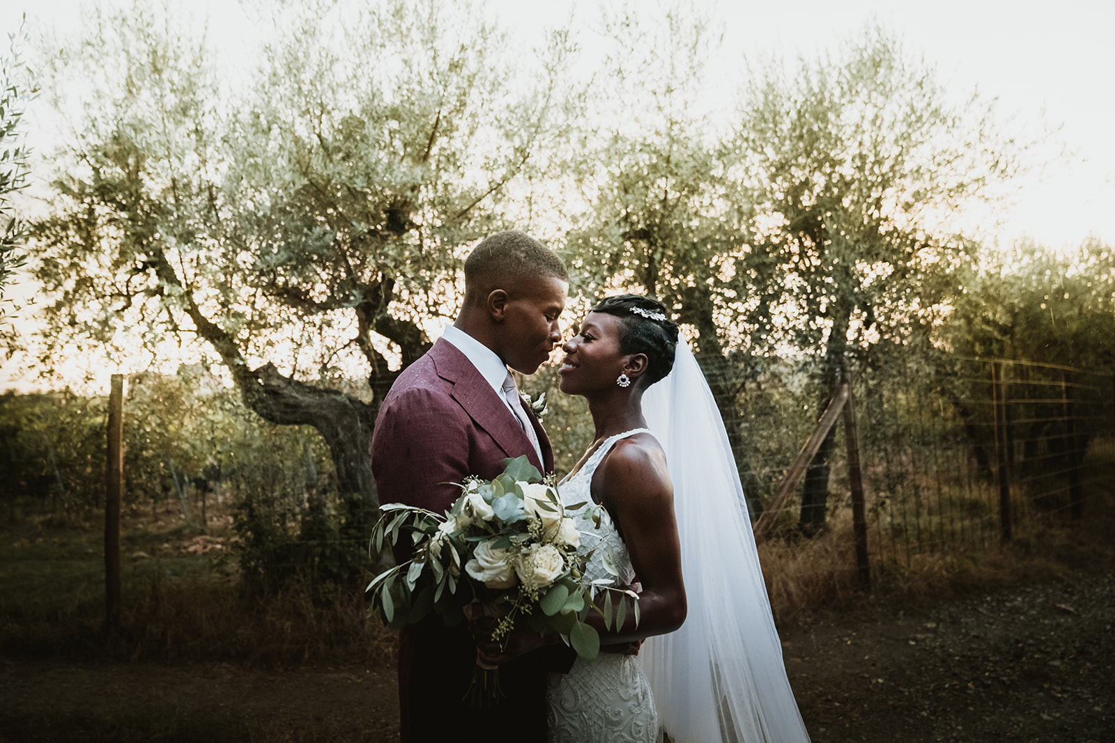 Melissa & Eugene - Ghanaian traditional wedding in Chianti