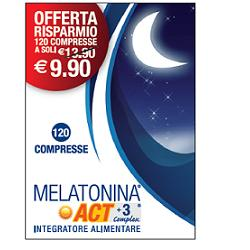 MELATONINA ACT1MG+3COMPLEX120