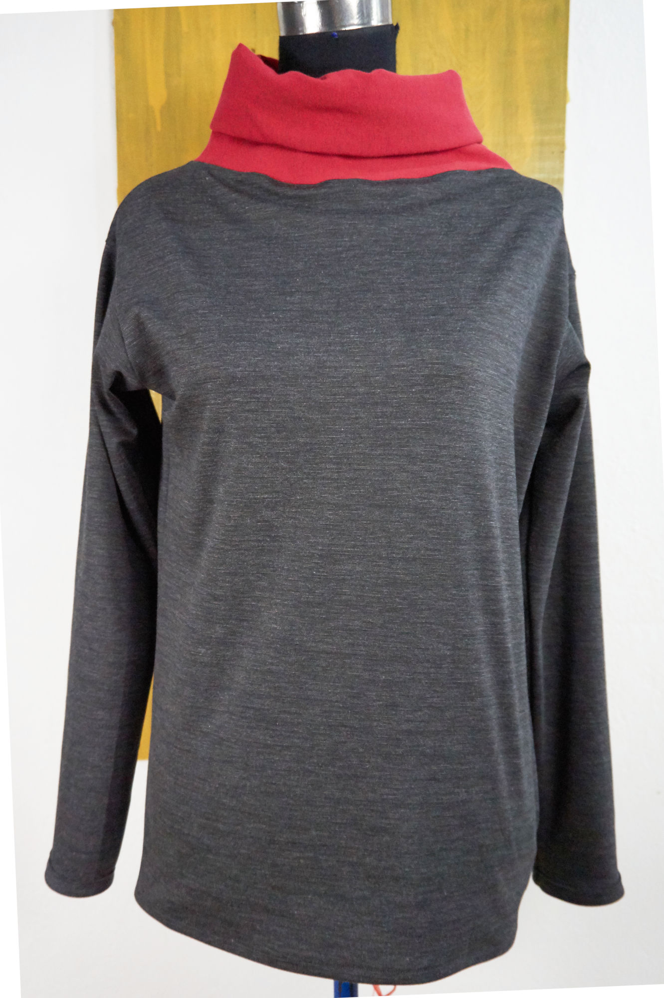 sweater ABside in wool jersey with turtleneck