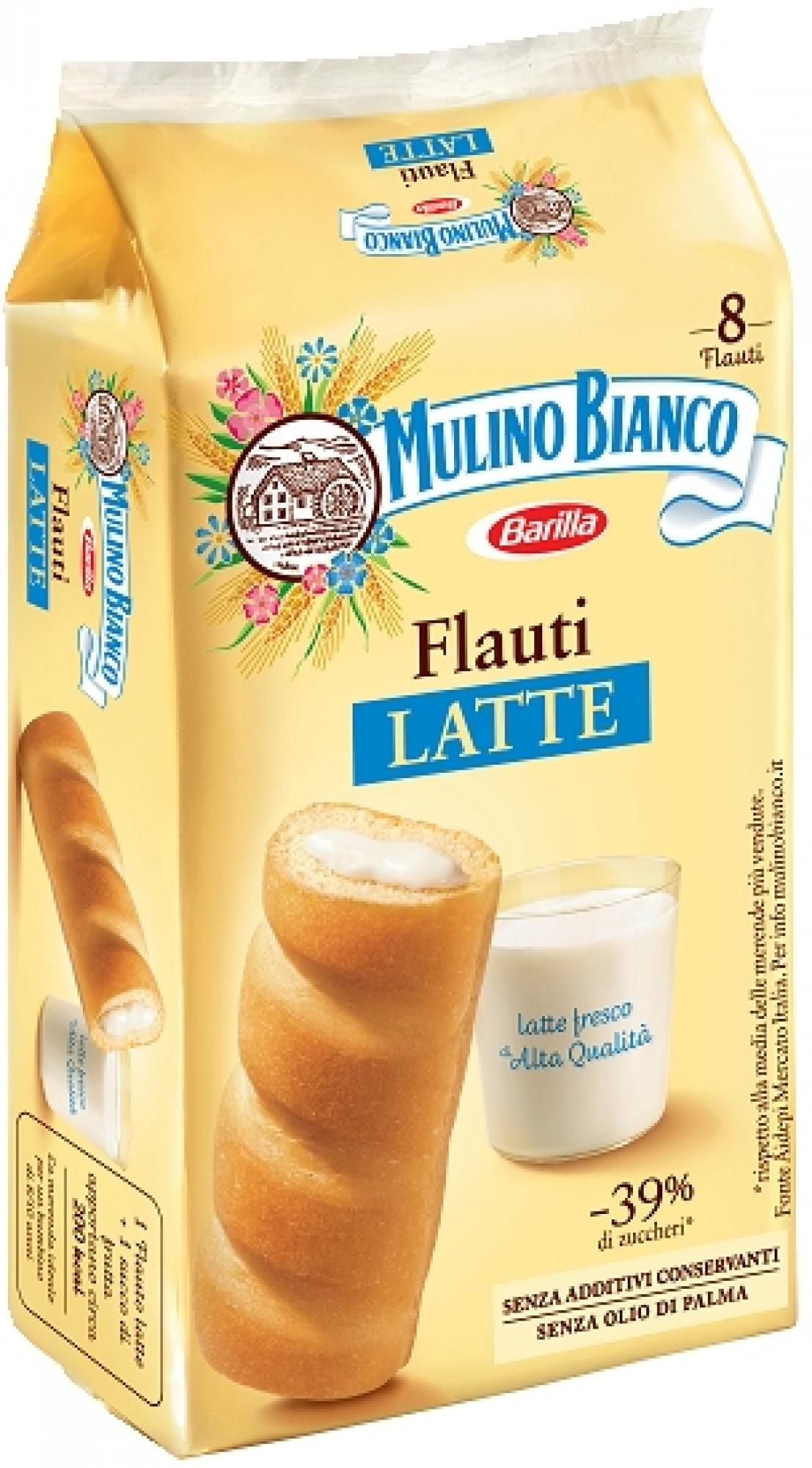 "Flauti Mulino Bianco 280gr (9.87oz) ""Imported from Italy"""