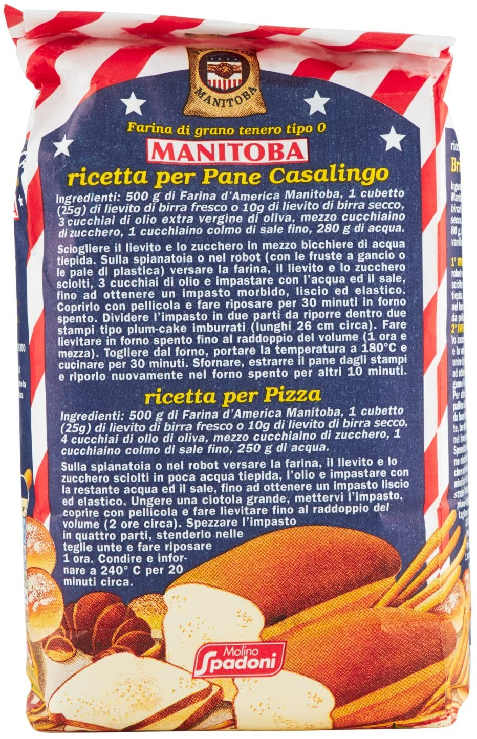 "Magic Flours ""100% Manitoba flour"" 1kg. Imported from Italy"