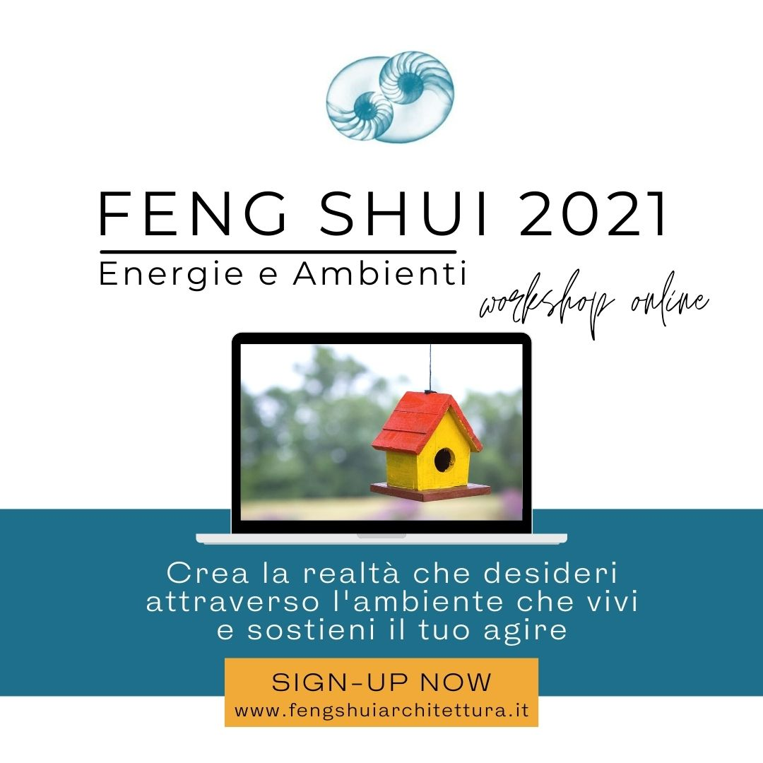 Workshop  ONLINE | Feng Shui 2021 | 28 Marzo