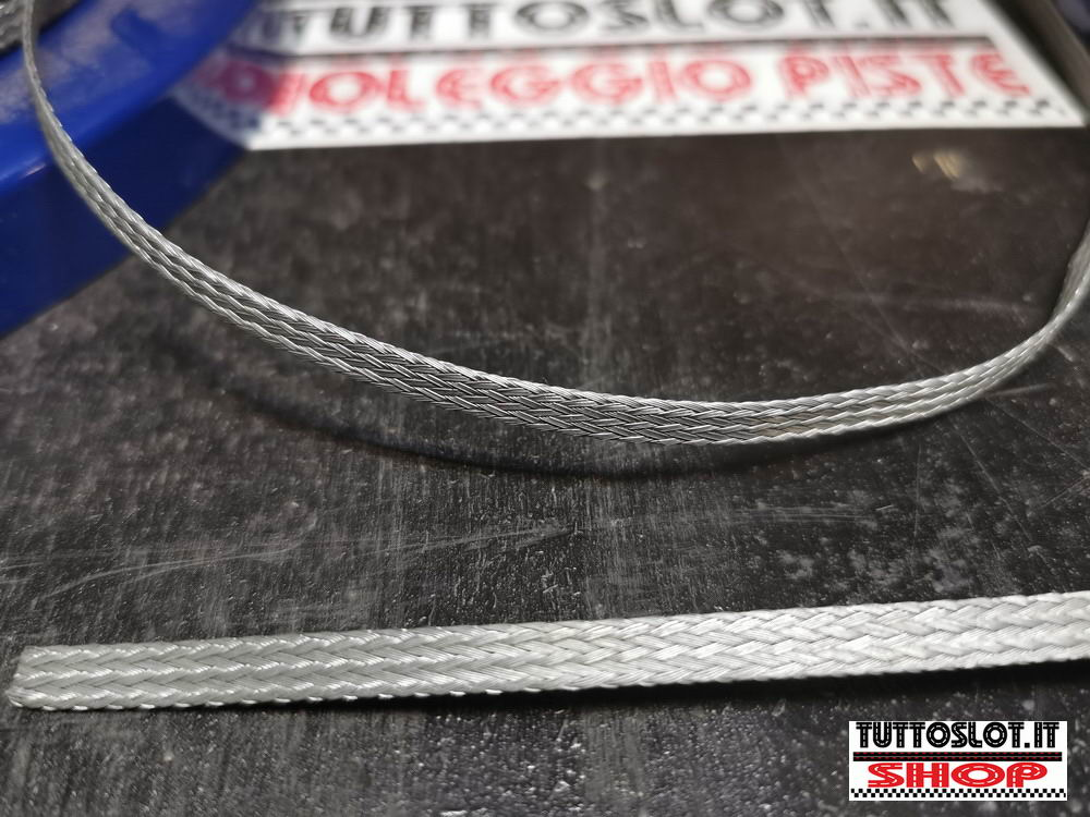 Treccia magnetica per corsie piste - Magnetic braid for slot track