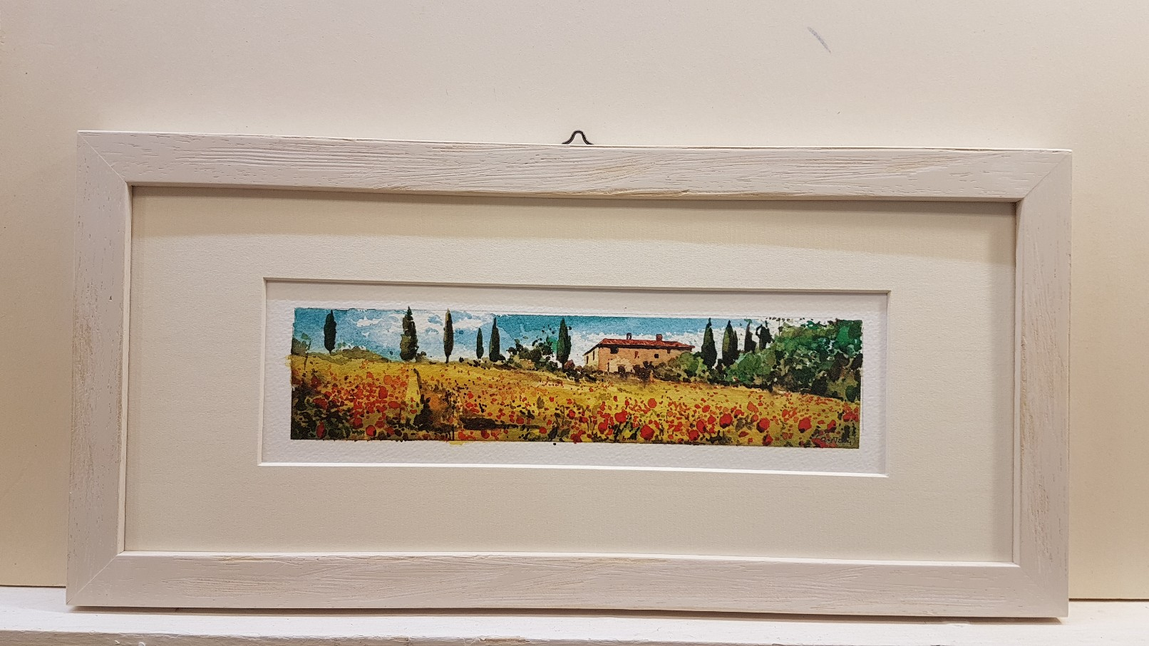 Papaveri con casolare - poppies with cottage