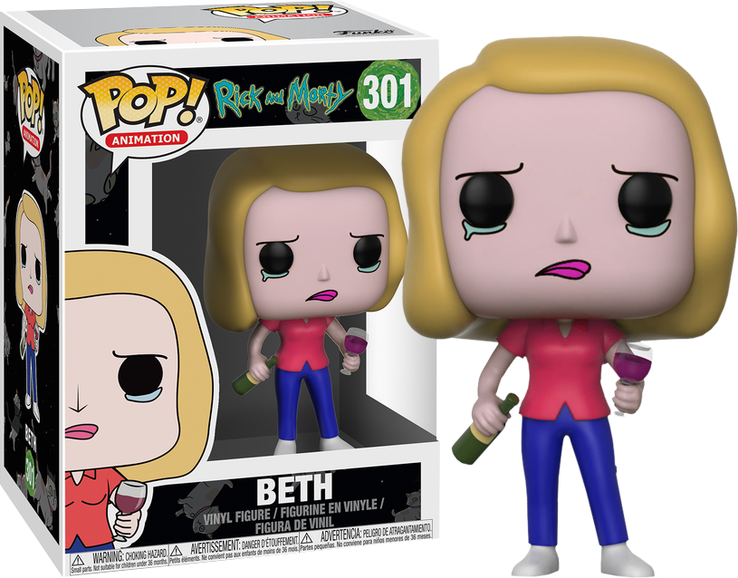 FUNKO POP BETH #301 RICK AND MORTY ANIMATION