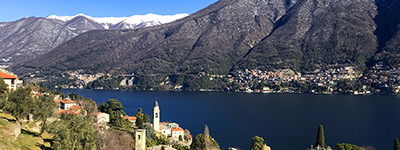 Lake Como view Laglio village