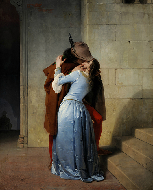 aFig 4 - Francesco Hayez Il bacio olio su tela 1859 112 x 88 cm Milano Pinacoteca di Brerajpg