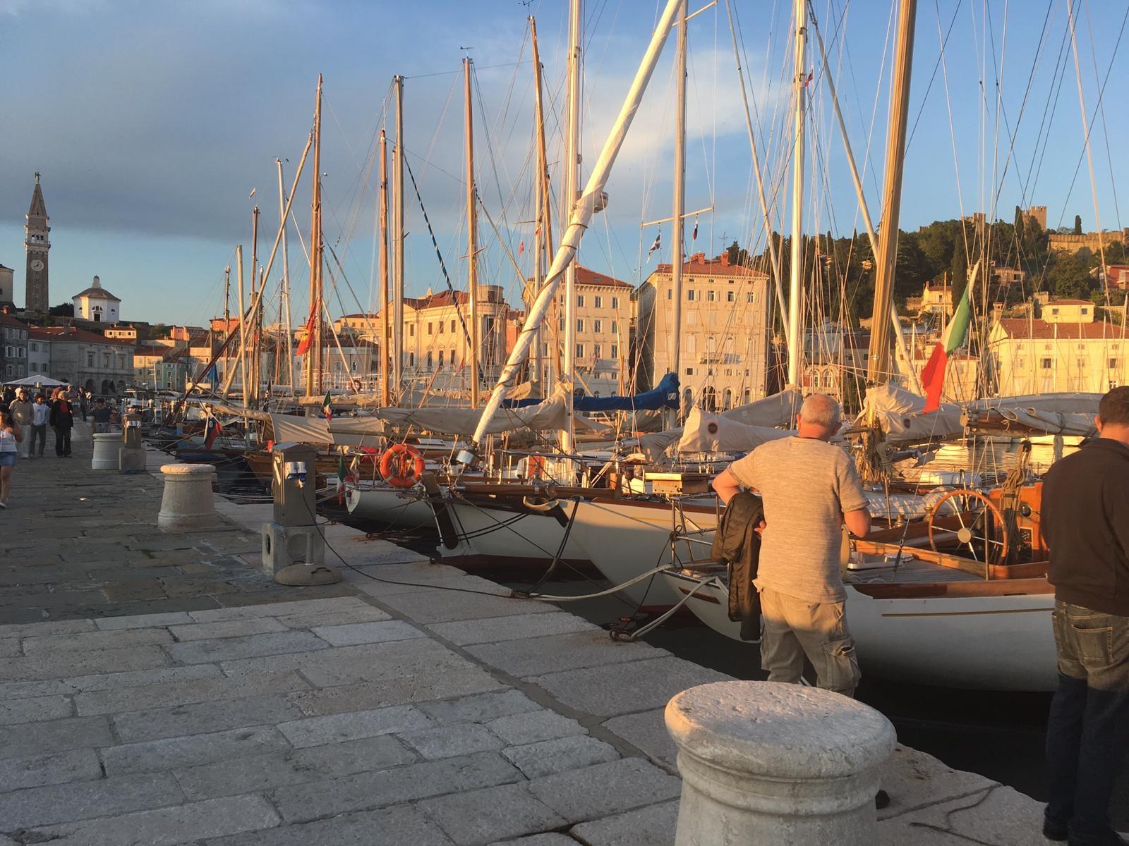 porto di pirano con barche storichejpg