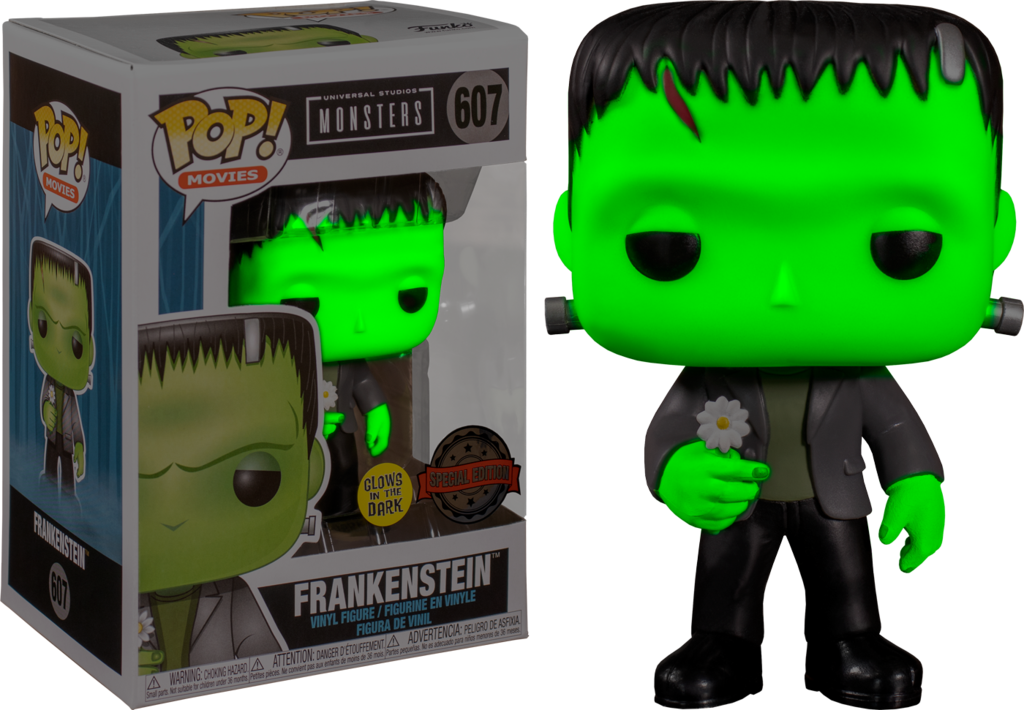 FUNKO POP FRANKESTEIN #607 MONSTERS GLOWS IN THE DARK SPECIAL EDITION