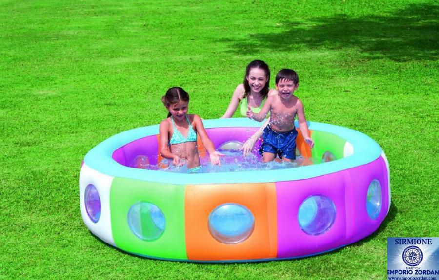 PISCINA GONFIABILE CM 196X53 MULTI COLOR OBLO BESTWAY 51064