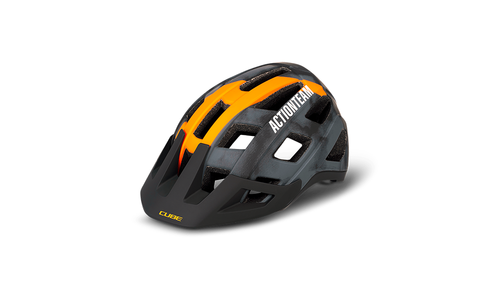 Casco CUBE BADGER X Actionteam grey´n´orange #16242