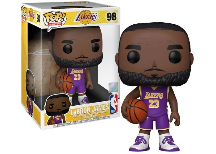 "FUNKO POP LeBRON JAMES #98 10"" BASKETBALL"