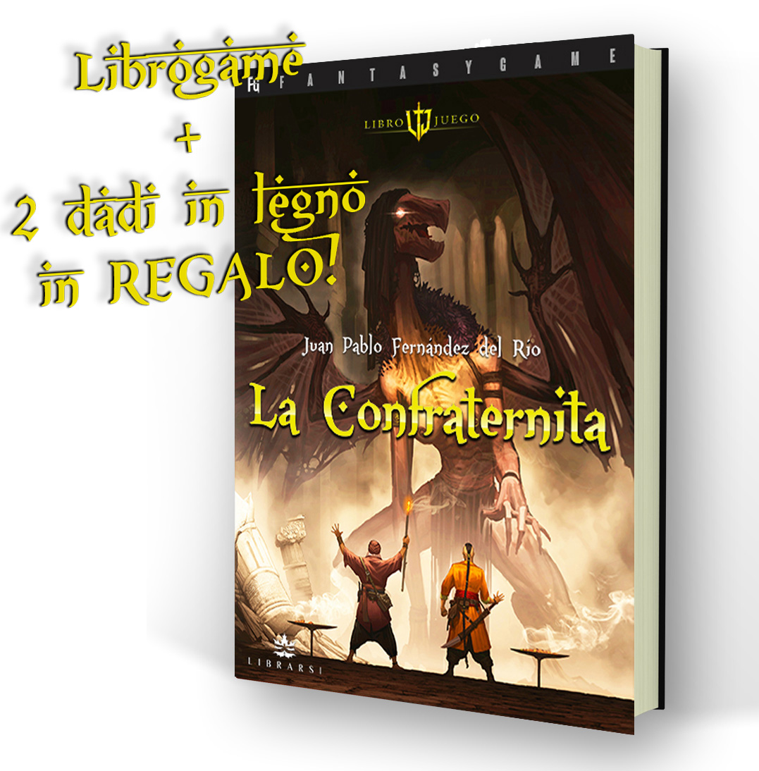 LIBROGAME La Confraternita + 2 dadi in legno in REGALO