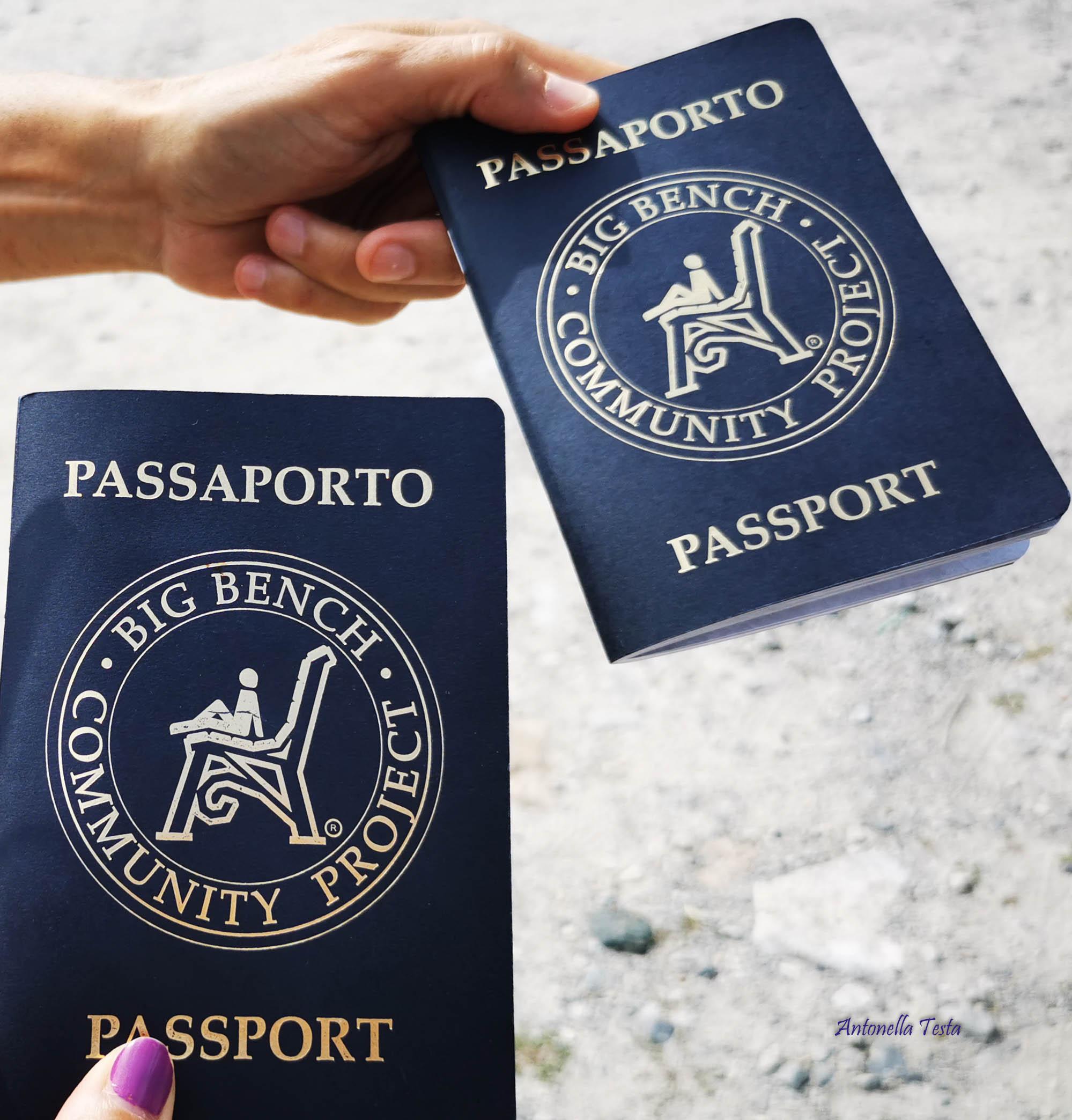 I nostri passaporti per collezionare i timbri delle Big Bench visitatejpg