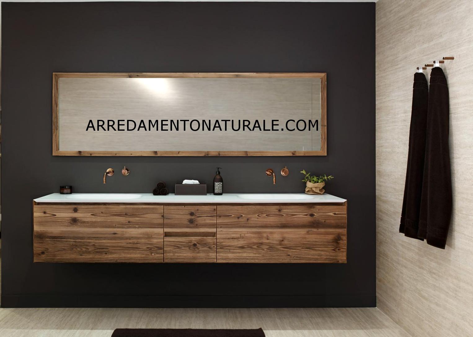 Bagno Legno Rustico : Mobili da bagno in legno massello su misura con essenze pregiate