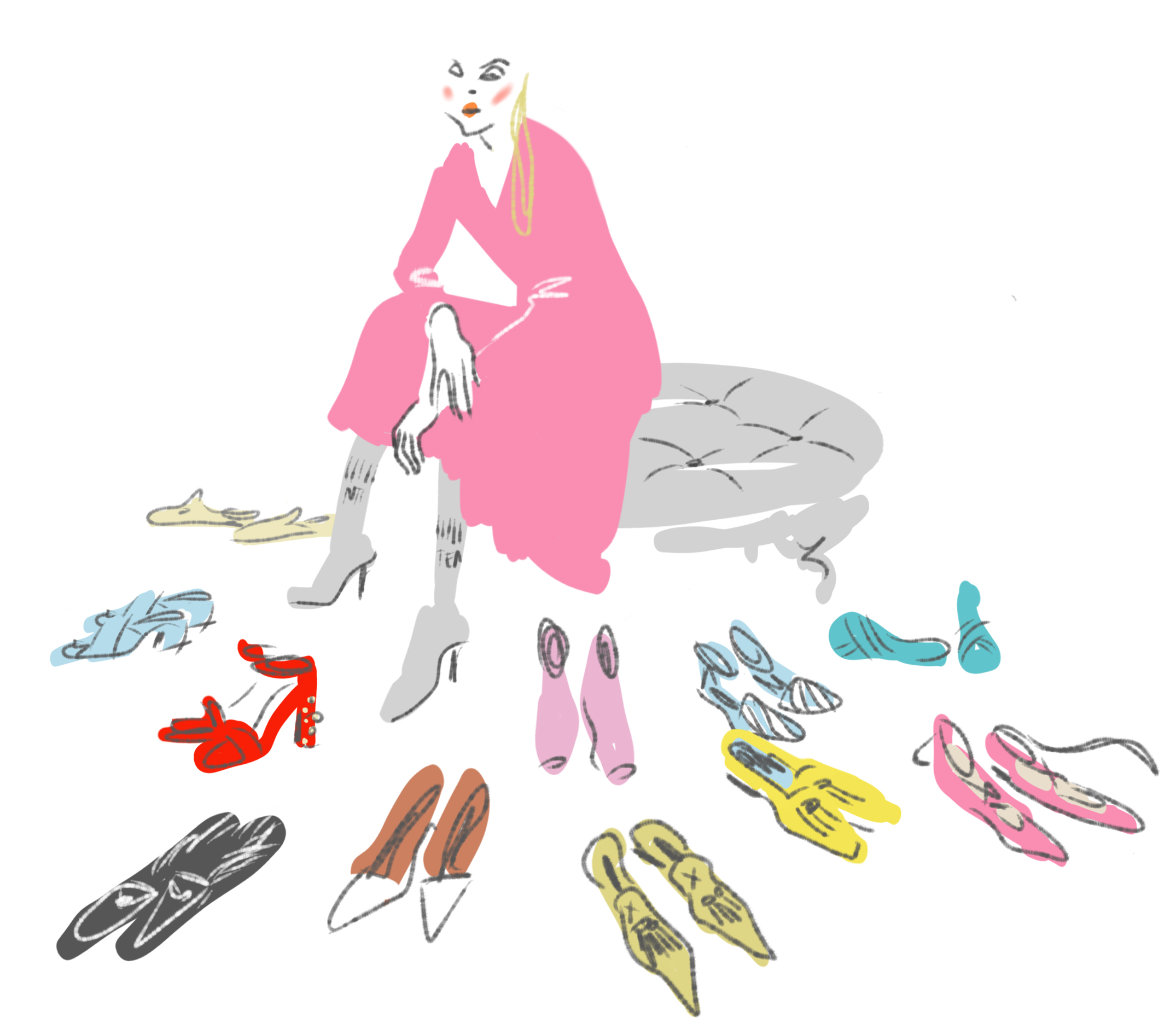 Open Toe Illustration by Silvana Mariani