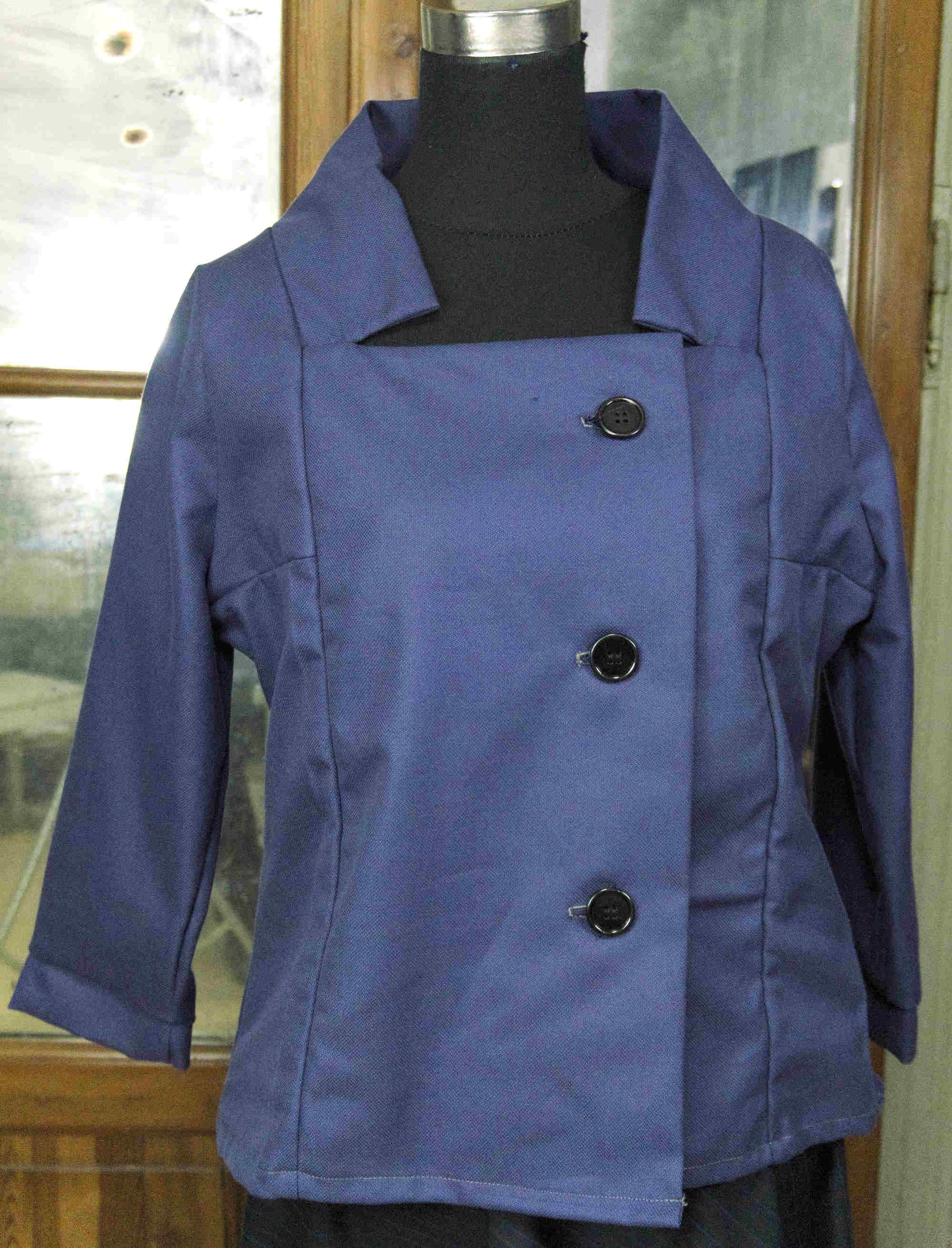 jacket with square neck