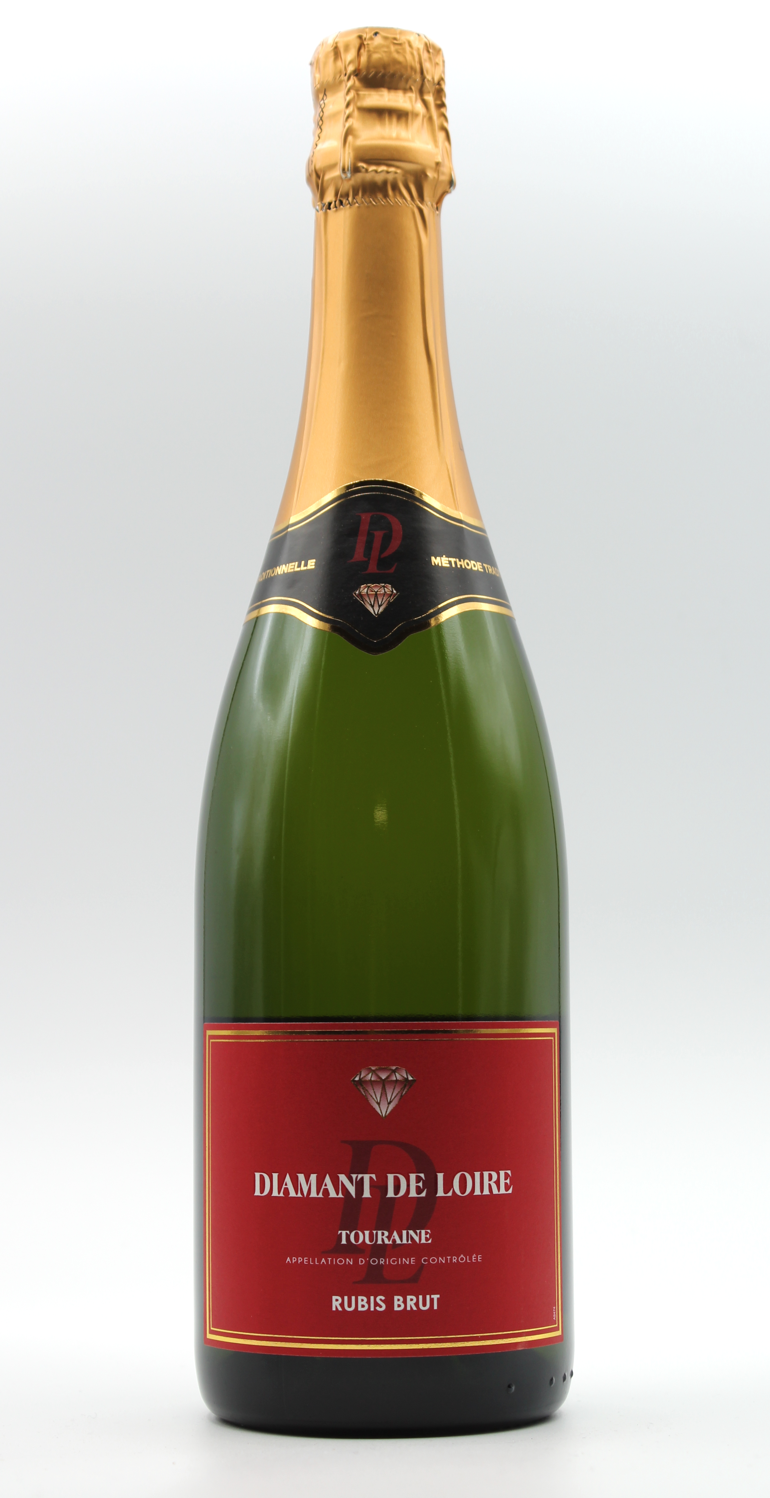 Touraine Blanc Brut Methode Traditionelle Cuveé '' Rubis'' Diamant Loire