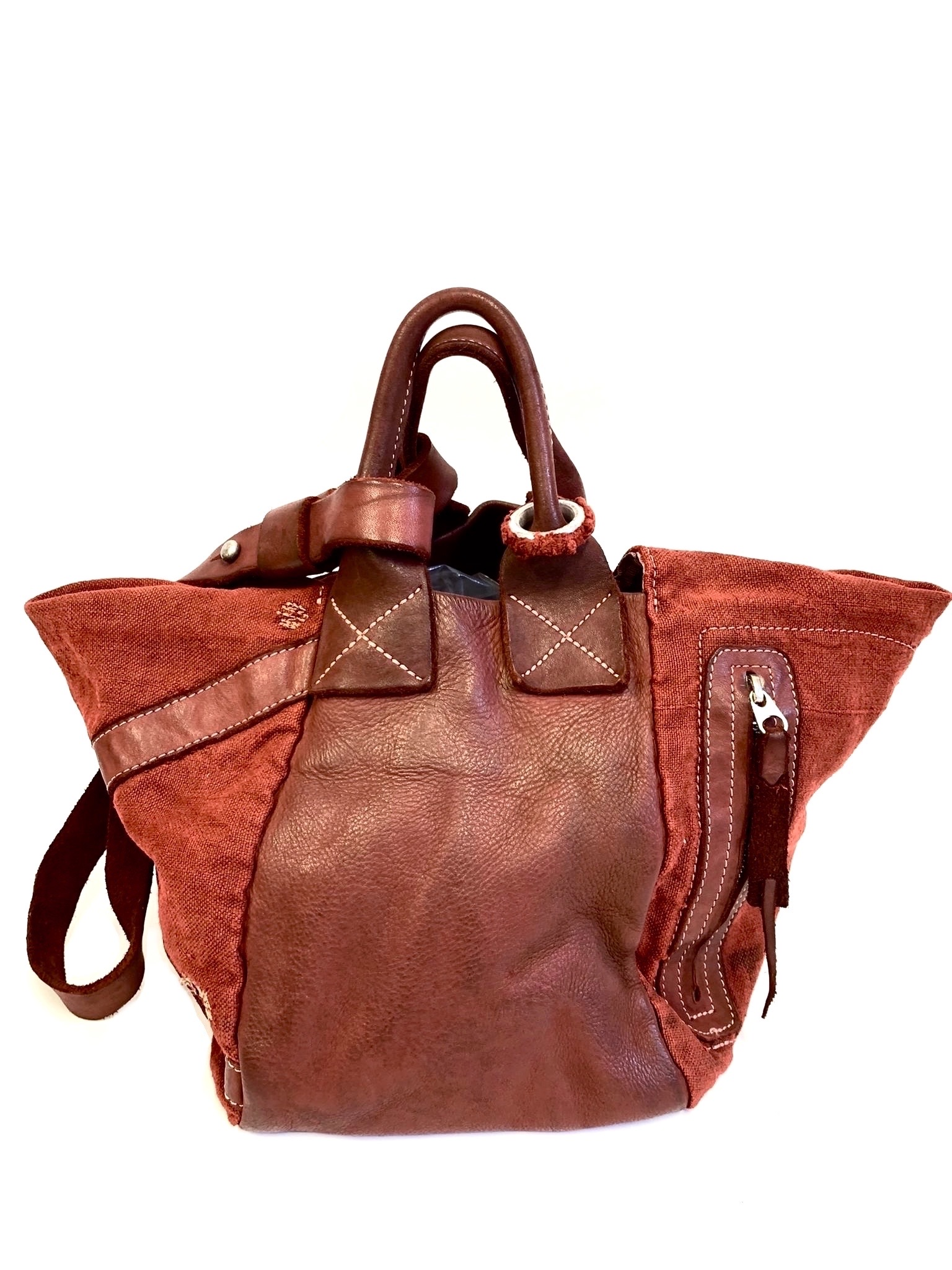 Distressed Bucket bag