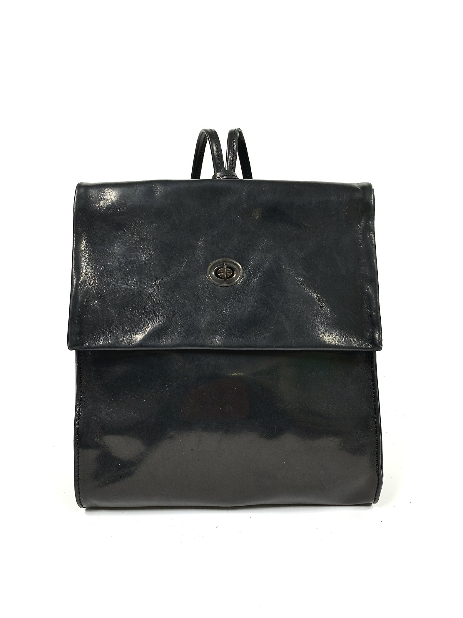 MINI POLISHED LEATHER BACKPACK