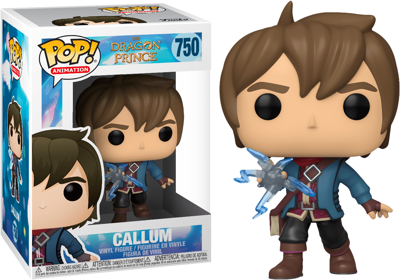 FUNKO POP CALLUM #750 THE DRAGON PRINCE ANIMATION